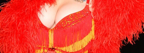 Appel Angel boobs burlesque