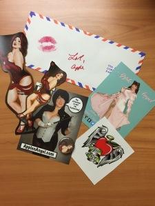 Apple Angel ApplenAngel burlesque swag love letter logo
