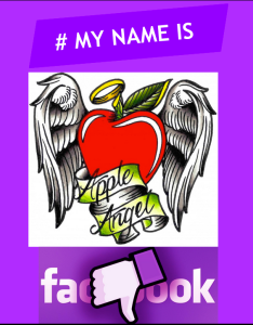 ApplenAngel Apple Angel Facebook #mynameis my name is burlesque