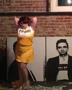 Cheerleader burlesque Deathproof Appel Angel Dr. Sketchy's Tulsa