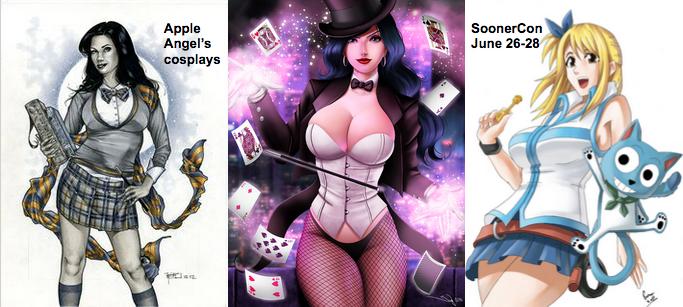 boobs SoonerCon cosplays Apple Angel Zatana Lucy Fairy Tail