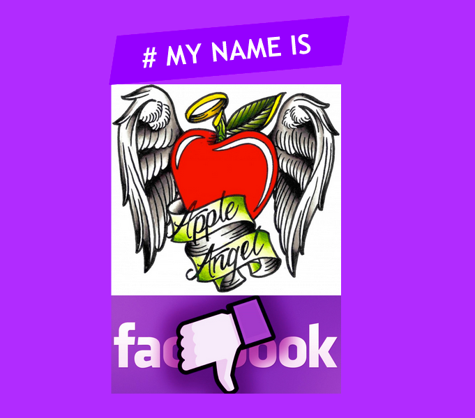 Apple Angel Facebook #mynameis my name is burlesque ApplenAngel