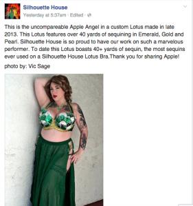 Silhouette House Apple Angel Applenangel boobs burlesque lotus