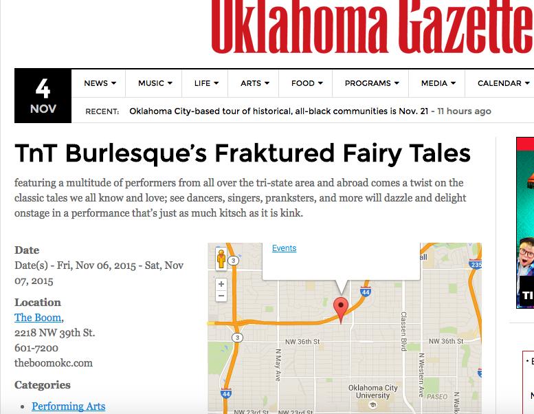 Oklahoma Gazette Apple Angel ApplenAngel Burlesque TnT