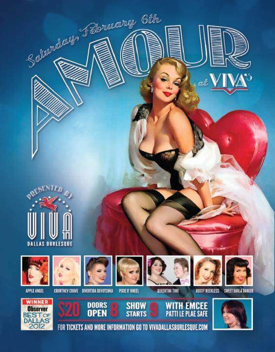 burlesque ApplenAngel Apple Angel Oklahoma City Vivas Viva Dallas Burlesque