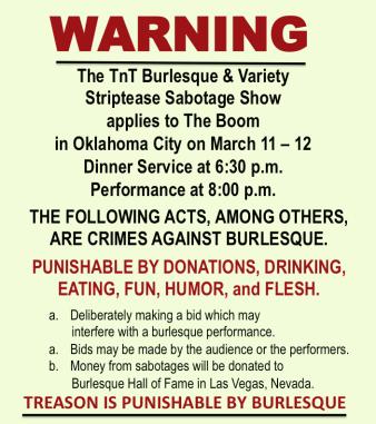 burlesque ApplenAngel Apple Angel TnT Oklahoma City