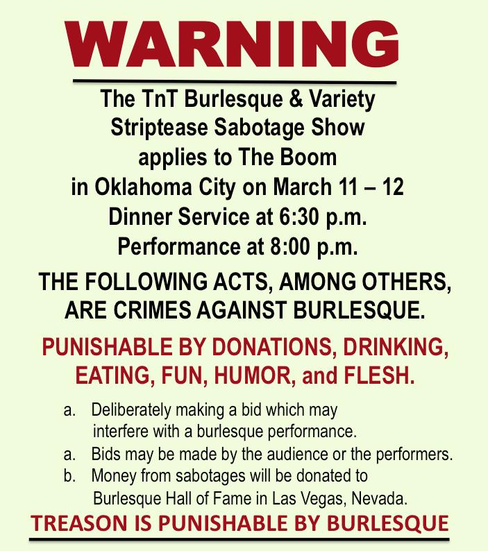 TnT Striptease Sabotage Show