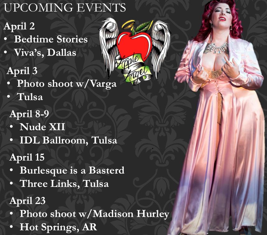 Apple Angel Applenangel Burlesque Oklahoma Nude Art 12 Viva's Dallas