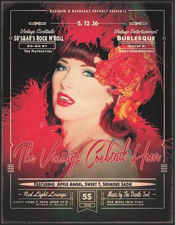 Apple Angel Oklahoma ApplenAngel burlesque Vintage Cocktail Hour Red Light Lounge Honey Cocoa Bourdeauxx